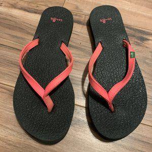 Sanuk Paradise Pink Flip Flops 7